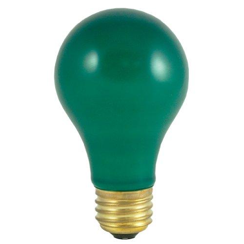Bulbrite 106425 - 25A/CG - Ceramic Green 25 Watt A19 Light Bulb -