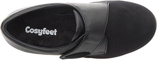Cosyfeet Karen Shoes - Extra Roomy (Eeeee+ Width Fitting) Black Elastane/Leather 5bqylppBHx