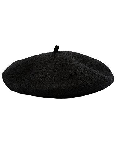 Kids Beret (Satinior Beret Hat French Beanie Cap artist Wool Hat For children Kids Girls (Black))