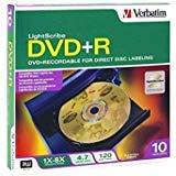 (Verbatim Lightscribe 10PK DVD+R MEDIA)