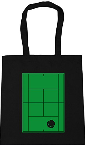 42cm Shopping HippoWarehouse Bag x38cm 10 Tote litres Tennis Court Gym Beach Black nwZ7x0tZqO