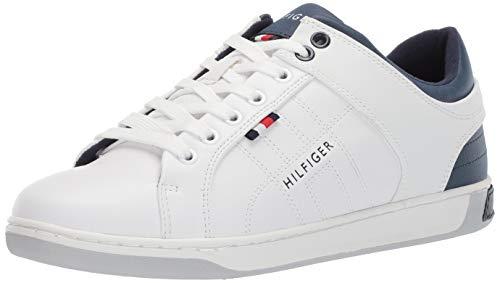 Tommy Hilfiger Men's Samir Sneaker, White 9 Medium US (White Watch Tommy Hilfiger)