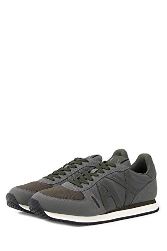 Homme Baskets Armani Xux017xv028grey Polyester Exchange Gris CqPFwOf