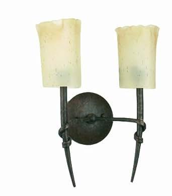 Faro 66092 - Torino lámpara aplique (2l), color marrón