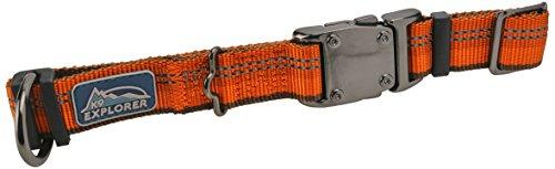 Adjustable Dog Clip Collar - Coastal Pet Products DCP36923COG K9 Explorer 1-Inch Dog Collar, Large, Orange