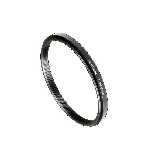 Fotodiox Metal Step Down Ring Filter Adapter, Anodized Black Aluminum 77mm-72mm, 77-72 mm