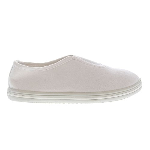 Slazenger Kinder Canvas Baby Slip On Leinen Pumps Weiß C6 (23)