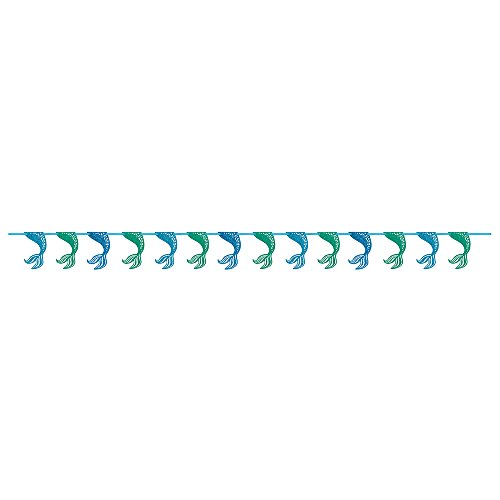 9ft Paper Glitter Mermaid Tail (9' Party Banner)