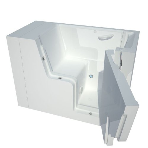 UPC 813450017159, Meditub MT2953WCARWS Wheelchair Accessible 29 by 53 by 42-Inch Walk In Soaker Bathtub Spa Right Side Door, White