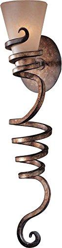 (Minka Lavery Wall Sconce Lighting 6765-211, Tofino Torchiere Glass Wall Lamp Fixture, 1 Light, 100 Watts, Bronze)