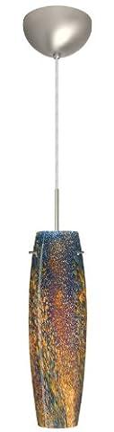 Besa Lighting 1BC-4121CE-SN 1X50W E12 Tutu Pendant with Ceylon Glass, Satin Nickel Finish - Sn Satin Nickel Tutu