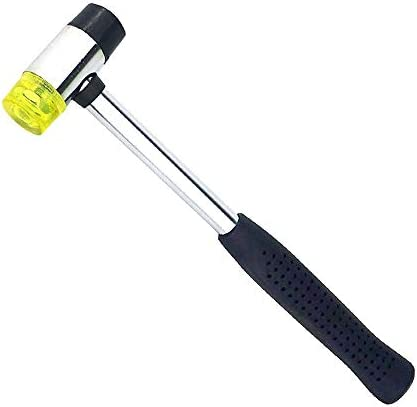 lizeyu 25 mm doppelseitiger Gummihammer mit weichem Gewindeschneiden für Multifunktionshandwerkzeug aus Hartplastik und rutschfestem Kunststoffgriffhammer