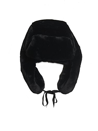 House Of Fluff Women's Faux-fur Explorer Hat O/S Black by House Of Fluff