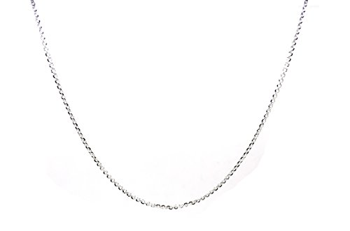 18k White Gold Bead (Chelsea Jewelry Basic Collections 3mm Wide 18K White Gold Belcher Bead Chain Necklace (30 Inches))