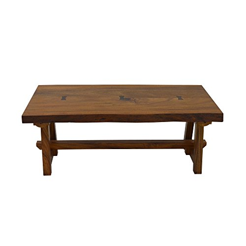 222 Fifth 7010BR042A1F84 Ori Live Edge Foldable Wood Coffee Table - Pts Coffee