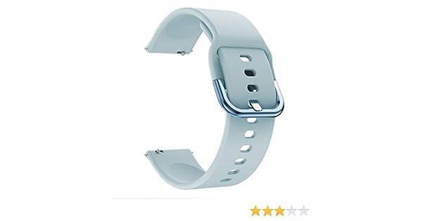 Riou Correa para Reloj,❤️para Samsung Galaxy Watch Active Correa de reemplazo Suave de Silicona para Deportes Pulseras de Repuesto para smartwatches: Amazon.es: Electrónica