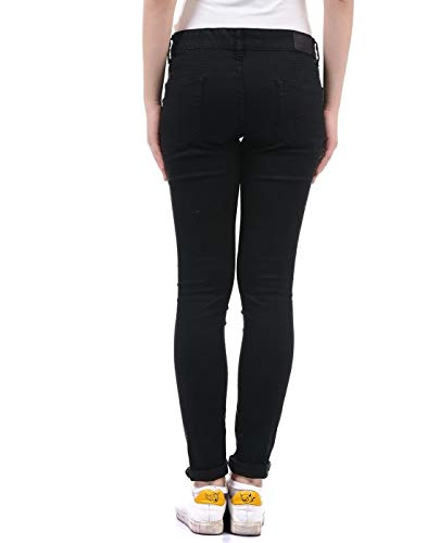 Pepe Jeans Women Black Jeans 2021 August Care Instructions: Machine wash cold, do not bleach, tumble dry medium, warm Iron if needed, dry clean possible Fit Type: Regular Material:Cotton