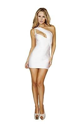 Roma Women's Single Shoulder Cut Out Mini Dress