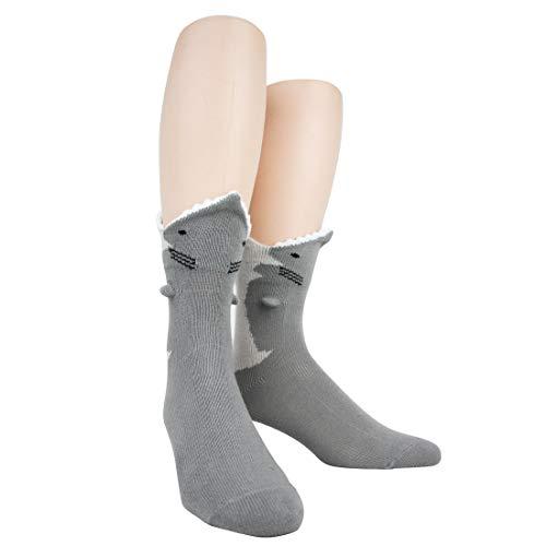 Foot Traffic Men's 3D Socks, Great White (Shoe Sizes 7-12) (7 Eleven Best Selling Items)