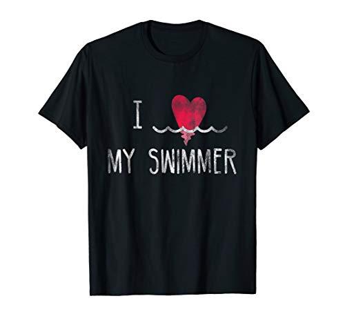 I Love My Swimmer T-shirt Swimming Swim Mom (Team Shirt I Love My)