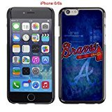 iPhone 6 Case, iPhone 6S Cases, GA ATL Braves Logo 27 Drop Protection Never Fade Anti Slip Scratchproof Black Hard Plastic PC Case