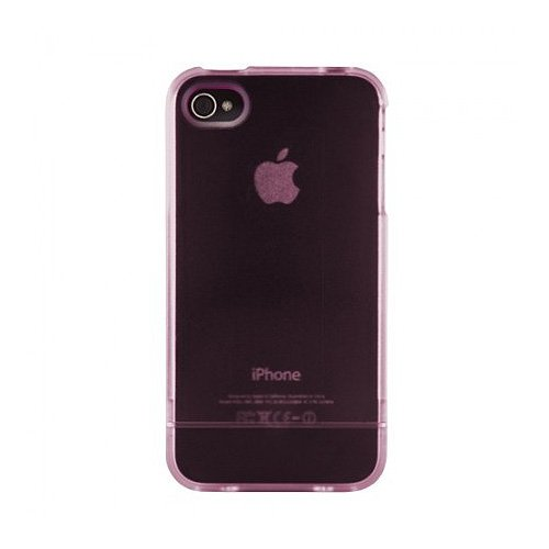 Agent18 ClearSlider Case for iPhone 4/4S, Clear Pink (IPS4U/AC)