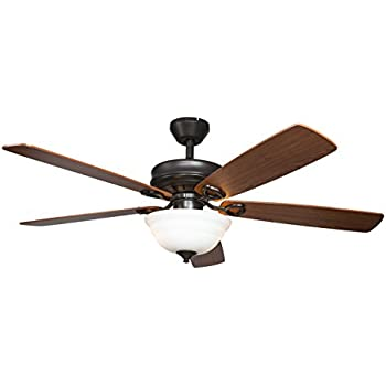 Hyperikon Indoor Ceiling Fan With Remote Control   52 Inch Wood Ceiling Fan,  Energy