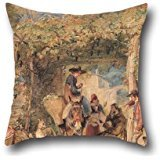 oil-painting-john-frederick-lewis-figures-and-animals-in-a-vineyard-pillowcover-16-x-16-inches-40-by