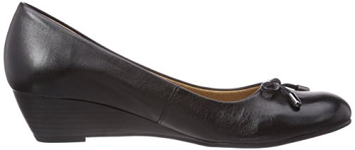 Caprice 22300 - zapatos de tacón cerrados de cuero mujer negro - Schwarz (BLACK/001)