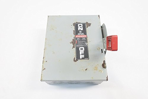 GE THN3361 MODEL 10 NON-FUSIBLE 30A 3P DISCONNECT SWITCH 600V-AC D596195