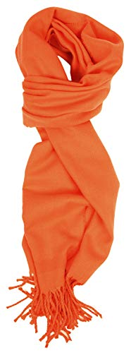 Love Lakeside-Cashmere Feel Winter Solid Color Scarf (One, Pumpkin)