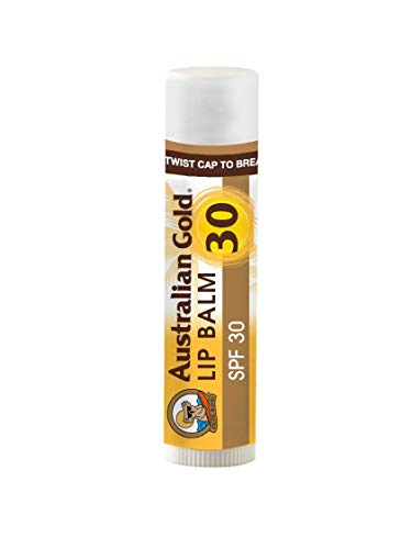 Australian Gold Lip Balm Sunscreen, Soothe and Protect Dry, Chapped, & Sunburnt Lips, Broad Spectrum, Cruelty Free, Kiwi-Lime, SPF 30, 0.15 Ounce (Pack of 4)