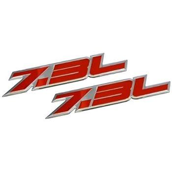 2x 7.3L Power Stroke Emblems International Diesel Door Badge Sticker Black Red