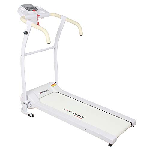 Confidence Fitness TP-1 Electric Treadmill Folding Motorised Running Machine White