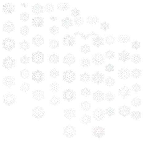 Amscan Christmas 3-D Snowflake Foil 7-Feet String Decorations, White, Pack of 18