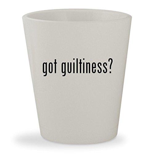 got guiltiness? - White Ceramic 1.5oz Shot Glass