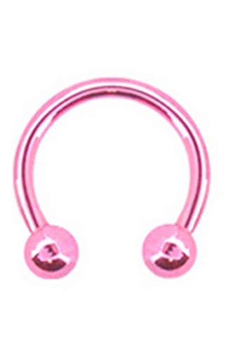 Titanium Horseshoe CBB Ring Nose Hoop Ear Cartilage Septum Metallic Pink 5/16
