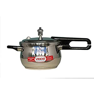 Vinod 18/8 Stainless Steel Splendid Plus Pressure Cooker -2.5 Ltr (Induction Friendly)