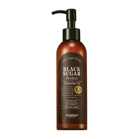 Skin-Food-Black-Sugar-Perfect-Cleansing-Oil-for-men-and-woman-Skin-Care-with-Black-Sugar-Refined-Rice-Wine-and-Botanical-Oils-Cleansing-Gels-Foams-for-dry-sensitive-oily-normal-skin