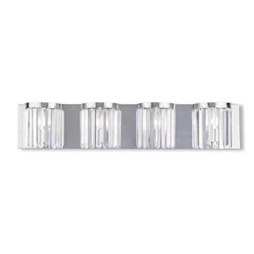Livex Lighting 50534-91 Ashton 4-Light Bath Light, Brushed Nickel (Ashton Light Fixture)