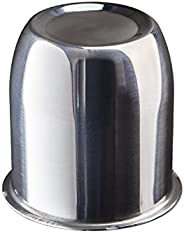 """Topline Products C100S Polished Stainless Steel 3.18"""" Wheel Center Cap   Closed End Push-Through D"""