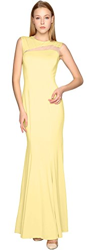 Gown MACloth Prom Formal Dress Evening out Cut Sheath Canary Party Jersey Simple 44r0vqf