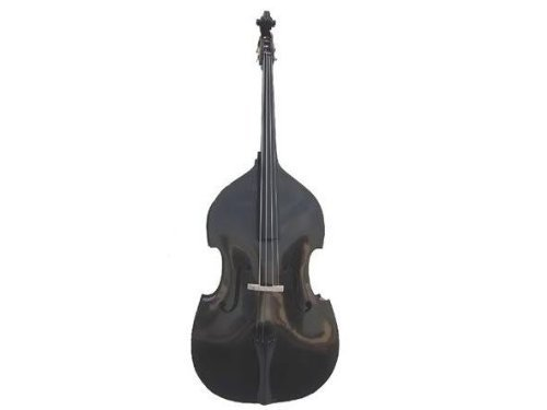 GRACE 3/4 Size Black Upright Double Bass with Bag,Bow,Bridge+Free Rosin by Grace