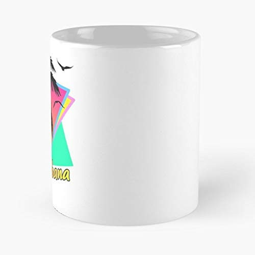 Copacabana Sunset 80s Water - Handmade Funny 11oz Mug Best Holidays Gifts For Men Women Friends. -