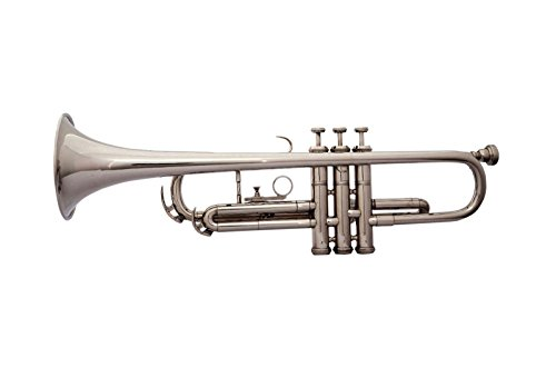 CHRISTMAS SPECIAL Bb PITCH TRUMPET WITH HARD CASE AND MP, NICKEL SILVER by SAI MUSICAL