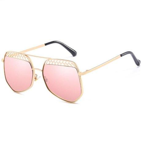 mujeres GGSSYY Gafas Vintage Half Uv Gafas Claro Diseñador sol de de de Moda de sol marca la Frame Pink para Gafas Protección sol sexy 74w7ax