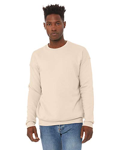 Bella+Canvas Men's Drop Shoulder Fleece, Heather DUST, Small