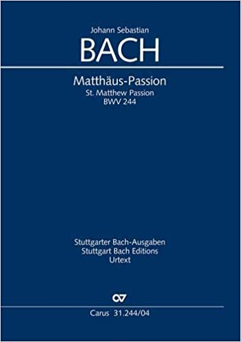 BACH ST MATTHEW PASSION BWV244 VOCAL SCORE Ger//Eng