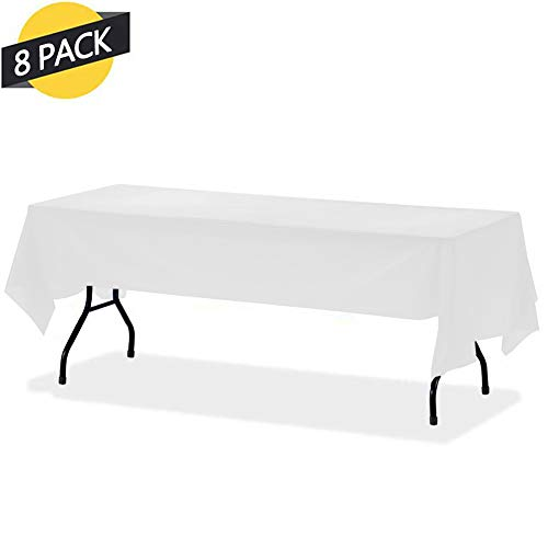 - GREENRAIN 8-Pack Disposable Plastic Tablecloth 54