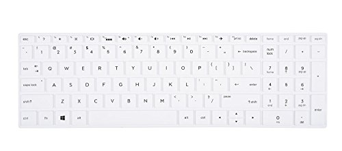 Keyboard Cover Compatible HP Envy x360 2-in-1 15.6 Laptop / 2019 2018 HP Pavilion x360 15.6 Series/HP Pavilion 15 Series/HP Envy 17t Series/HP Envy 17 17-AE 17-BS 17-BW 17-CA Series, White